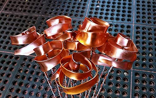 Set of 3 Bright Copper Forever Roses #813'' I Love You'' Steampunk - Wedding Prom Graduation 7th Anniversary Regalo de Aniversario Hanukkah Kwanzaa Valentine's Mother's Day Christmas Gift ! by Refreshing Art (Image #8)'