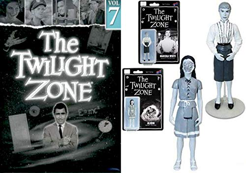 Robot Mannequin The Twilight Zone: Rod Serling's landmark series DVD TV 4 episodes Hitch-Hiker / Shadow Play / Perchance Dream / King Nine Will Not Return + Alicia Marsha 2 Black & White Figures (Eye Of The Beholder Twilight Zone Original)