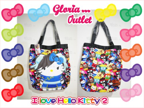 Hello Kitty Street Fighter Canvas Tote Loungefly Sanrio SANTB1055 ()