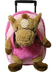 Pink Horse Kids Plush Animal Roller Backpack