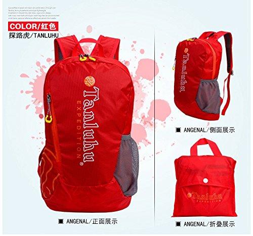 Hongrun Die ausblendbare Outdoor doppel Schultertasche leicht wasserdicht Atmungsaktiv nylon Double Shoulder Bag zugeben