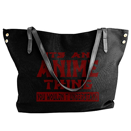 Messenger It's Tote Women's An Black Wouldn't Anime Shoulder Tote Large Bag Canvas Thing You Hobo Understand Handbag xXqFEqCr7w