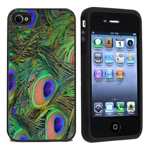 Peacock Feathers Case / Cover For Apple iPhone 4 or 4s by Atomic Market](Iphone 4 Case Peacock)