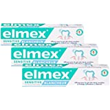 Elmex Dentifrice Sensitive Blancheur 75 ml - Lot de 3