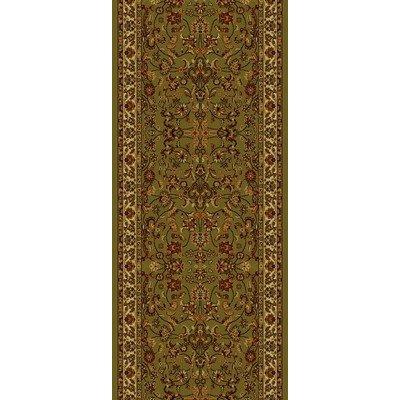 "Concord Global Trading Oriental Classics Kashan Green Rug Rug Size: 2' x 7'7"" from Concord Global Trading"