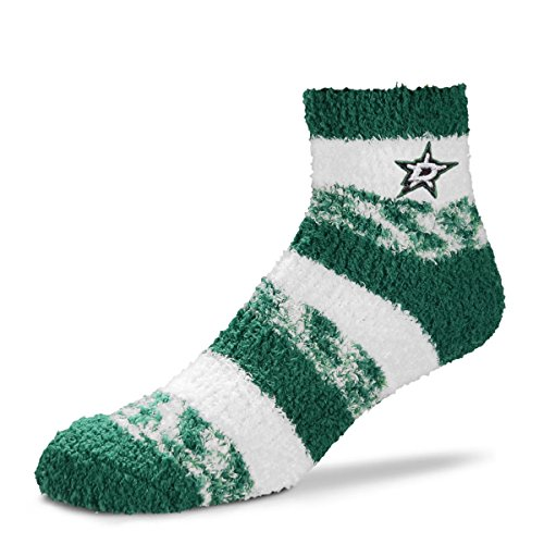 For Bare Feet NHL RMC Pro Stripe Fuzzy Sleep Soft Sock -Dallas - All Womens Watch Star Nhl