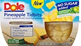 Dole Fruit Bowls, Pineapple Tidbits in Water 16 Ounce