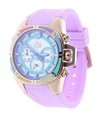Technosport Dreamline 38mm Pink Swiss Multifunction Rubber Strap Womens Watch TS-100-S39