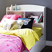 South Shore Furniture Logik Twin Bookcase Headboard 39-Inch, Pure White