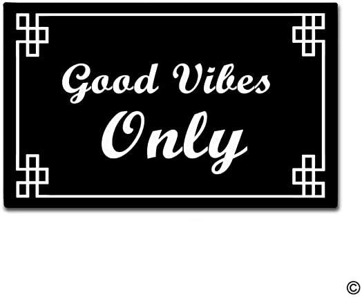 Good Vibes Only Non-slip Doormat Decorative Entrance Mats Rugs Outdoor Indoor Front Door Bathroom