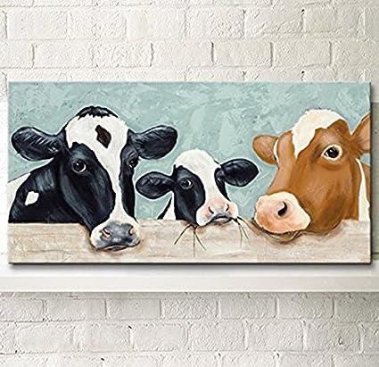 Hanhaibo Vacas Lecheras Grandes Murales Pintados Dibujos Animados