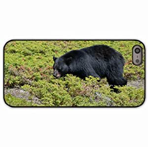 iPhone 5 5S Black Hardshell Case grass black Desin Images Protector Back Cover by runtopwell