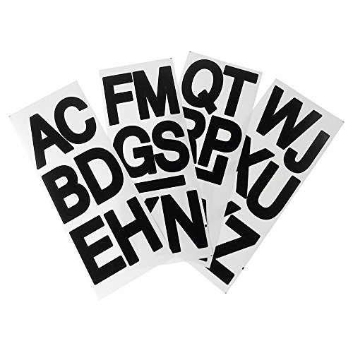 Homeford Big Font Alphabet Letter Stickers, Caps, 3-Inch, 26-Count