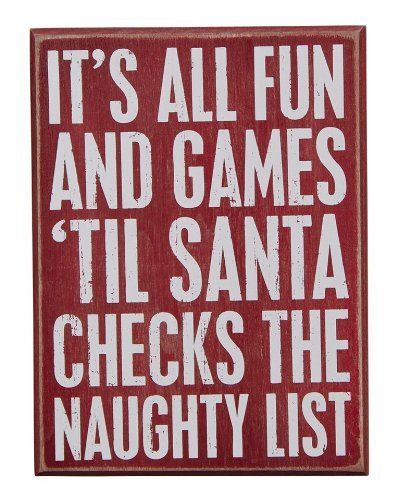 Primitives by Kathy Box Sign, 6 by 8-Inch, Fun and Games by Primitives By Kathy