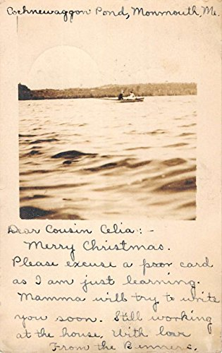 Monmouth Maine Cochnewaggon Pond Real Photo Antique Postcard K78155