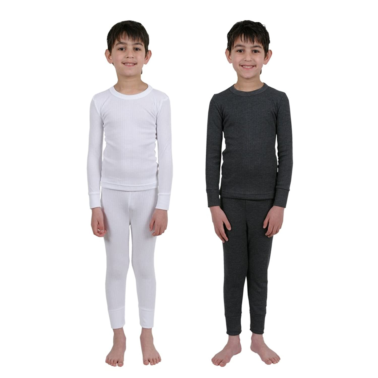 Set 2 Colours Childrens Thermal Underwear Long Sleeve Vest