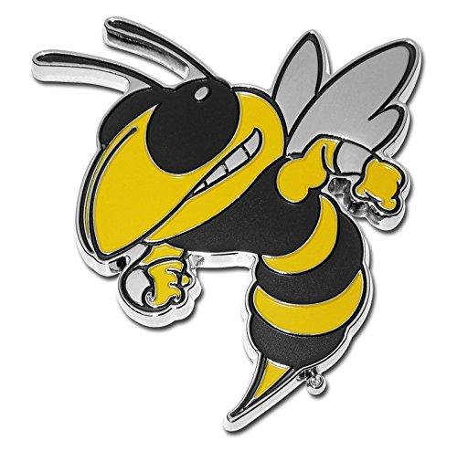 Georgia Tech University Buzz Mascot METAL Auto Emblem