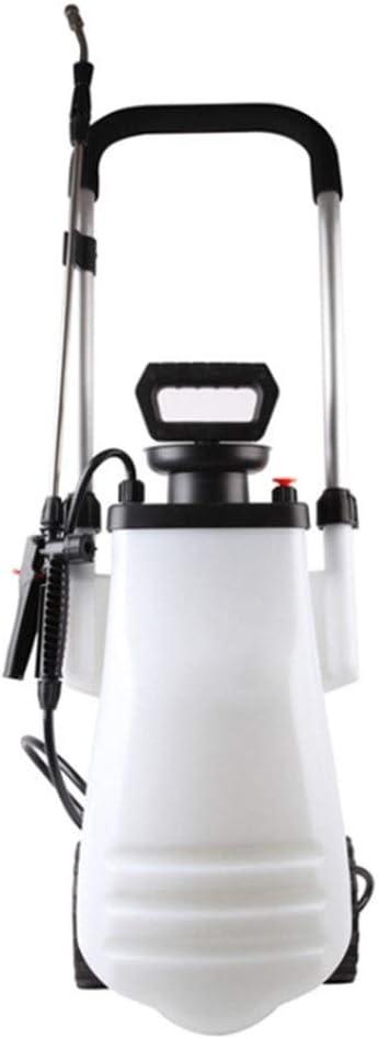 12L carretilla pulverizador de bomba, acumulando la botella de pulverización a presión con la barra de acero telescópica de acero y la válvula de alivio de presión, césped y jardín regadera química, l