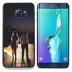 "Planetar ( Ventana Negro Amarillo Inicio"" ) Samsung Galaxy S6 Edge Plus / S6 Edge+ G928 Fundas Cover Cubre Hard Case Cover"
