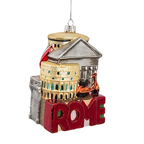 Italy Ornament (Kurt Adler 5-Inch Glass Rome Cityscape Ornament)