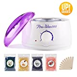 Wax Warmer Hair Removal Waxing Kit Electric Wax Heater Hot Wax Warmer Home Wax Kit with 4 Different Flavors and Wax Applicator Sticks for Women and Men