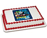 Thomas and Friends train Steam Team Go1/4 Sheet Image Cake Topper Birthday Party Edible