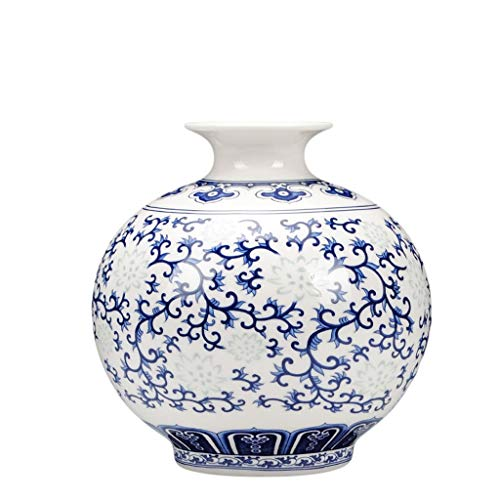 Vase MAHONGQING Ceramics Blue and White Exquisite Bone China Thin Tire Small Classical Modern Chinese Living Room Table Decoration