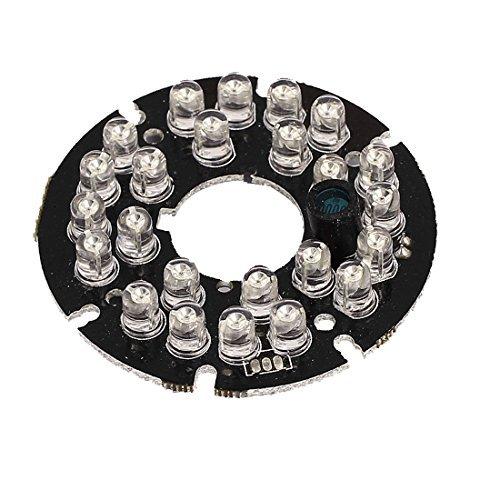0.5' Ccd Color Camera (eDealMax 24 LED DE 90 grados reemplazo CCTV cámara de visión nocturna IR Junta)