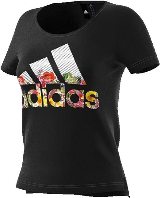 adidas Camiseta deportiva para mujer con diseño de flor deportiva