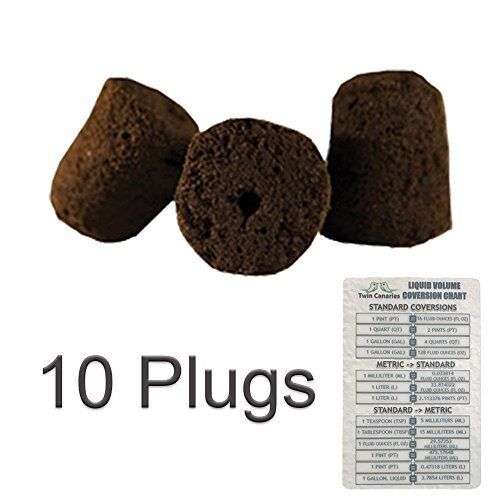 VARIOUS AMOUNT GENERAL HYDROPONICS RAPID ROOTER REPLACEMENT CLONE PLUGS + TWIN CANARIES CHART - 10 Plugs