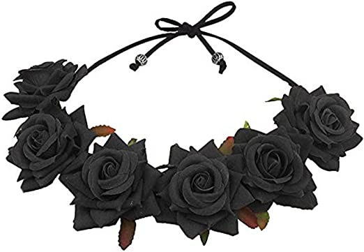 Amazon Com Floral Fall Rose Red Rose Flower Crown Woodland Hair