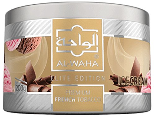 Al Waha Elite Edition Shisha Molasses Premium Flavors 200g for Hookah (ICE Cream)