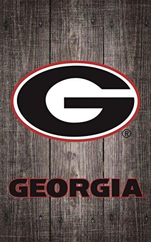 Fan Creations University of Georgia Gray Distressed Wood Logo 11x19, Multi