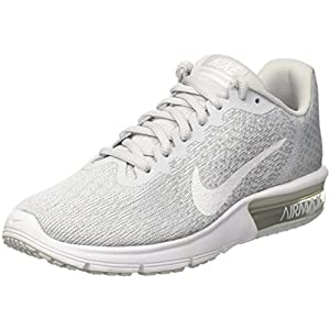 Nike Air Max Sequent 2 Pure Platinum/White/Wolf Grey Women's Running Shoes Size 7.5