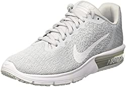 Nike Air Max Sequent 2 Pure Platinumwhitewolf Grey Women's Running Shoes Size 7.5