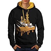 Play Chess With Me Game Board Men NEW S-2XL Contrast Hoodie | Wellcoda
