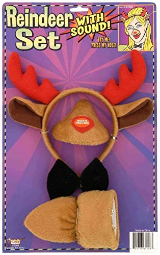 Forum Novelties Animal Costume Set Reindeer Ears Nose