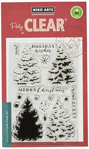 Hero Arts Color Layering Christmas Tree Design Stamp by Hero Arts