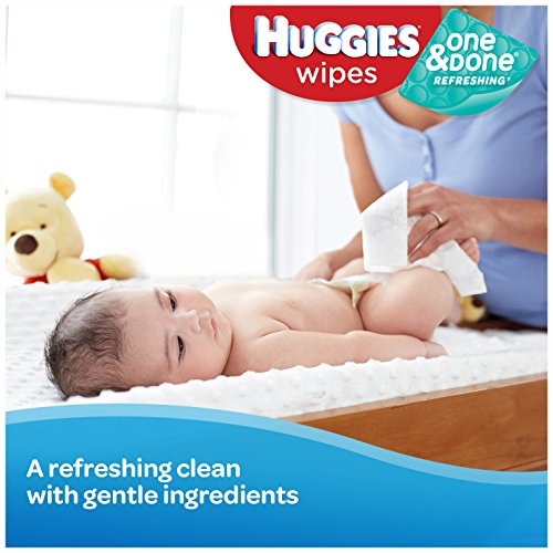Huggies One and Done Refreshing Baby Wipes, 32 Count