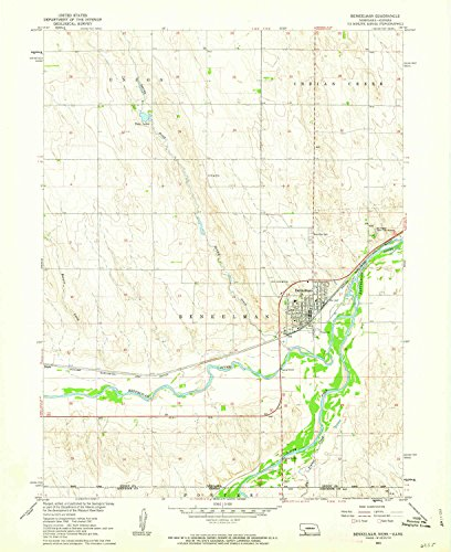 YellowMaps Benkelman NE topo map, 1:24000 Scale, 7.5 X 7.5 Minute, Historical, 1961, Updated 1963, 26.9 x 22 in - Paper