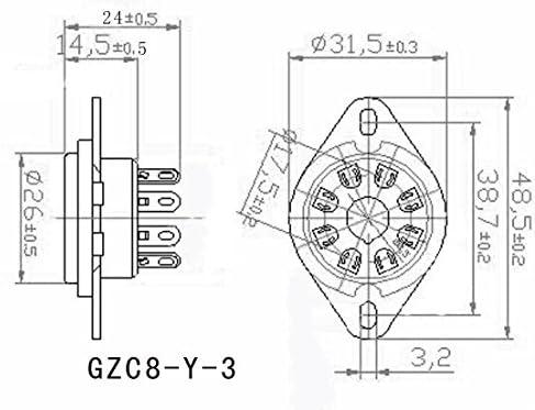 100Pcs 8Pin Vacuum Tube Socket Valve Base For KT88 6550 EL34 6P6P 6V6 6N8P 6SN7