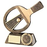 Lapal Dimension BRZ/GOLD TABLE TENNIS BAT/NET/BALL TROPHY - (1in CENTRE) 6in