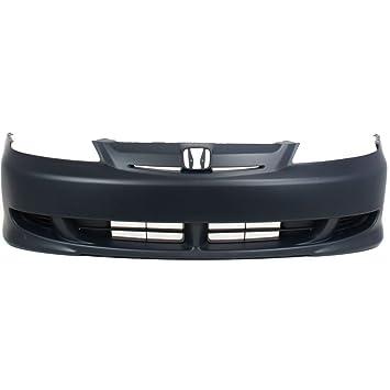 Honda Civic Front Bumper Cover Fascia Primed Black For Coupe and Sedan 2001-2003