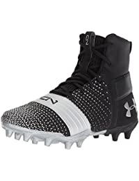 Under Armour Boys' C1N MC Jr, Black (001)/Metallic Silver, 2.5