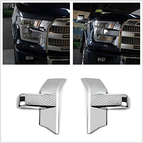 Front bumper headlight&grille Chrome Cover trim for Ford F150 2015 2016 2017 Flash2ning