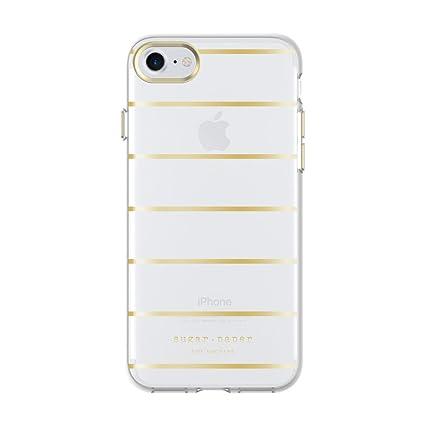 promo code a002a cfb89 Sugar Paper Printed Case for iPhone 8 & iPhone 7 - Stripe Metallic  Gold/Clear