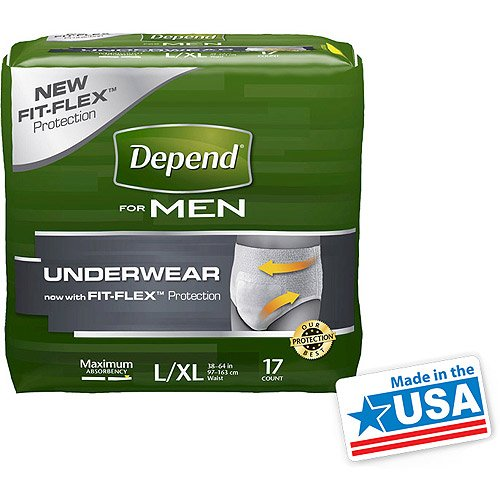 Price comparison product image Depend Men Underwear Maximum Absorbency Large Extra Large 17 CT (Pack of 8)