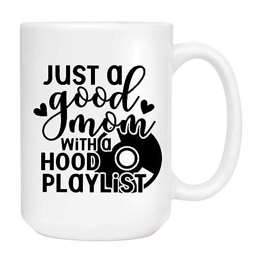 Amazon.com: Good Mom Hood Playlist Coffee Mug - Cute ...