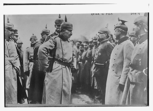 1914 Photo Kaiser in field Kaiser Wilhelm II (1859-1941), the last German Emperor and King of Prussia, with troops during World War I. (Source: Flickr Commons project, - Map Prussia King Of