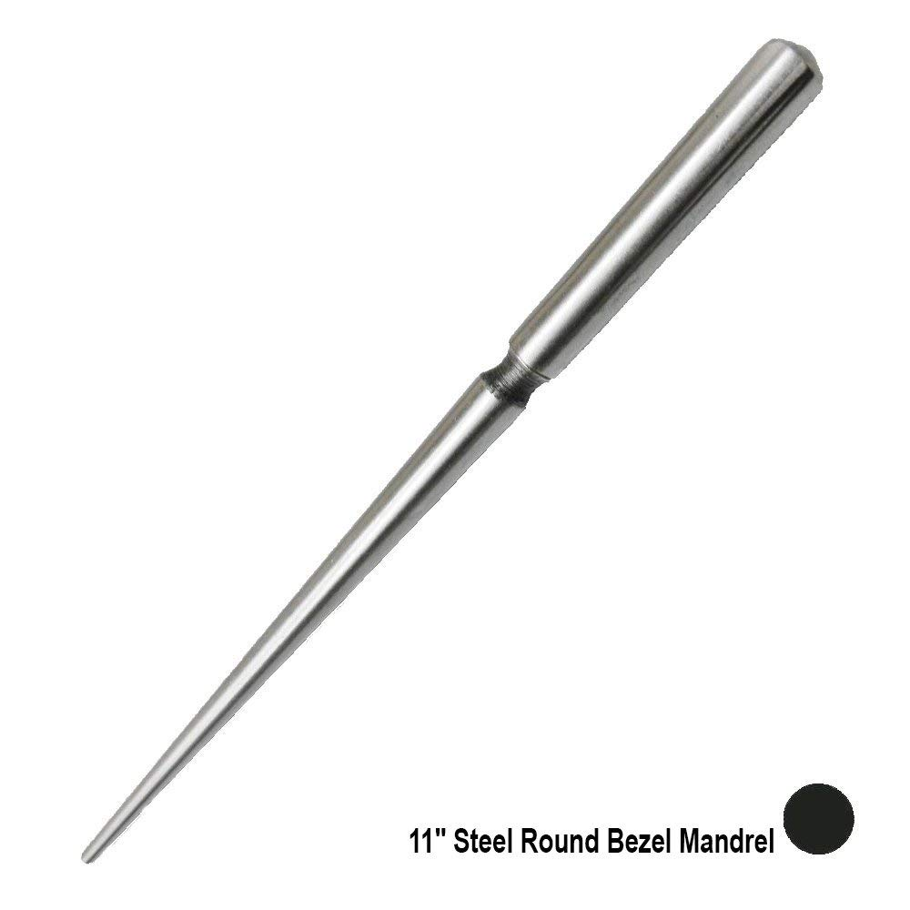 11 Steel Round Bezel Mandrel Stones Setting Jump Rings Making Wire Wrapping Metal Jewelry Forming Craft Tool